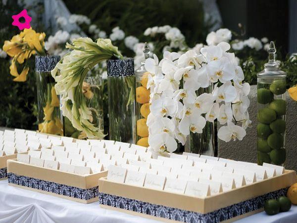 Parte de la decoraci n de la recepci n de la boda son los for Arreglos florales para boda en jardin