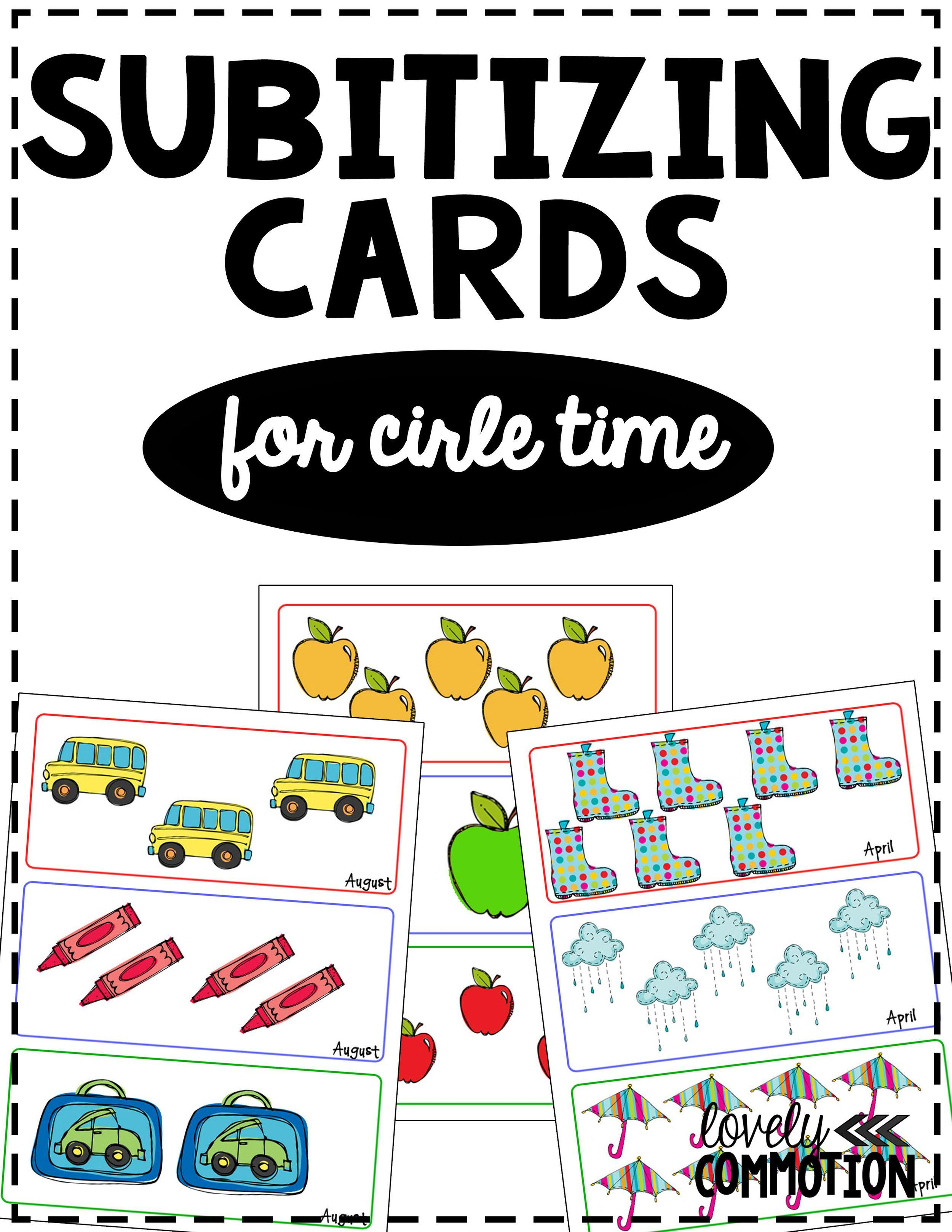 Free Subitizing Cards For Preschool Circle Time