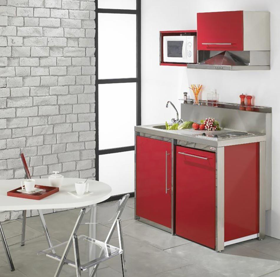 la kitchenette moderne quip e et sur optimis e amenagement cuisine r novation et balcons. Black Bedroom Furniture Sets. Home Design Ideas