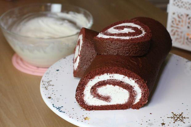 Red Velvet Yule Log Cake Christmas Buche De Noel Recipe Yule Log Cake Log Cake Christmas Cake Roll