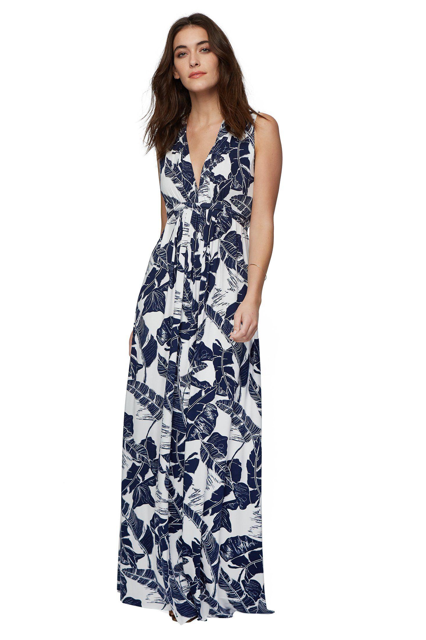56e5f7c2c2ea1 Harlow Palm Leaf Print Maxi Dress from Rachel Pally #palmleaf #maxidress