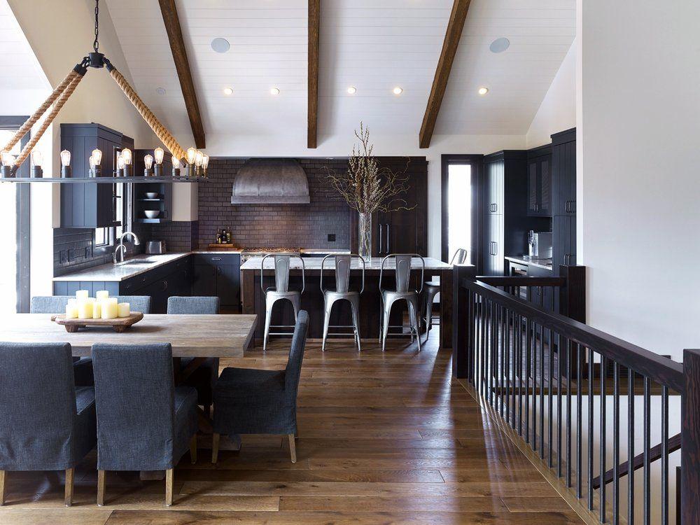Nyla Free Designs Inc Canmore Mountain Retreat Modern Rustic