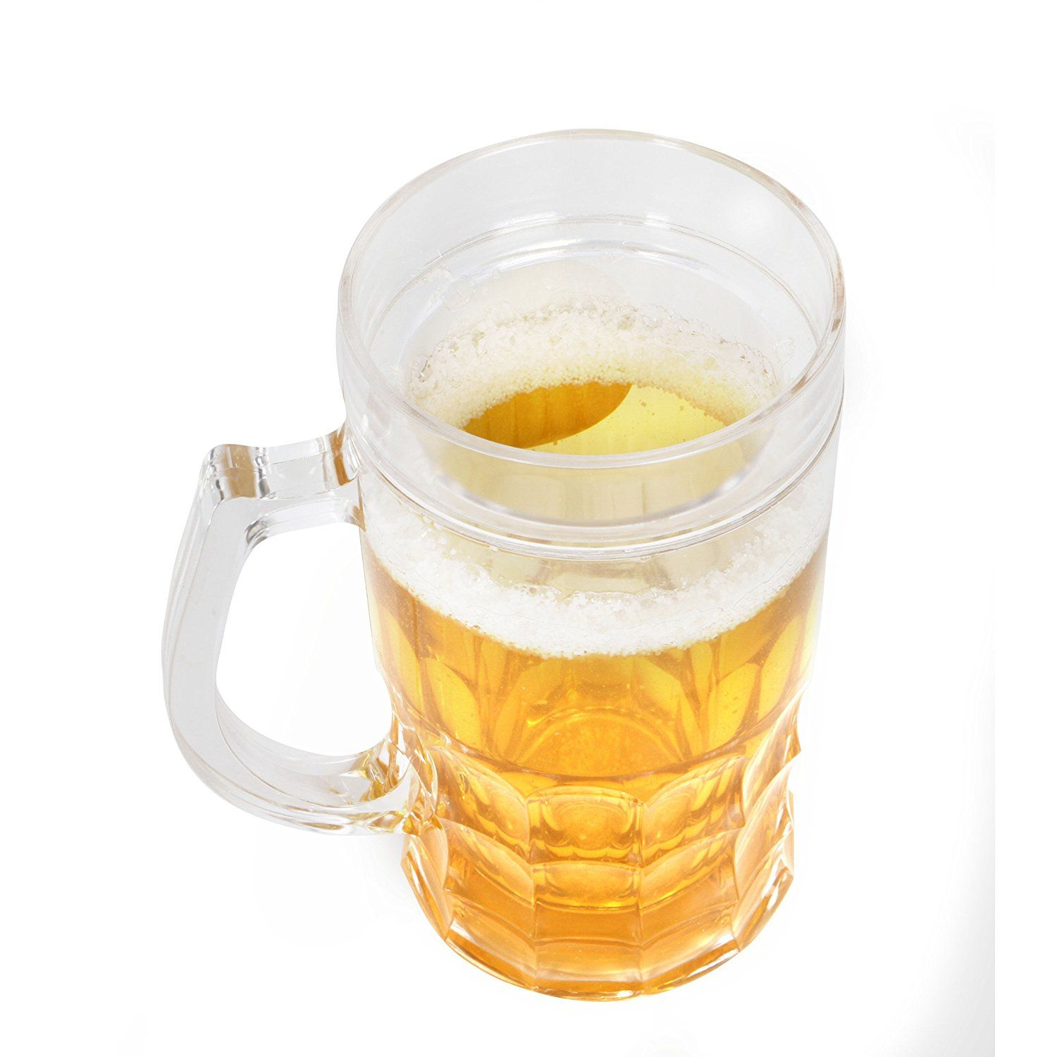 amazon com novelty beer mug holds 13 oz insulated plastic