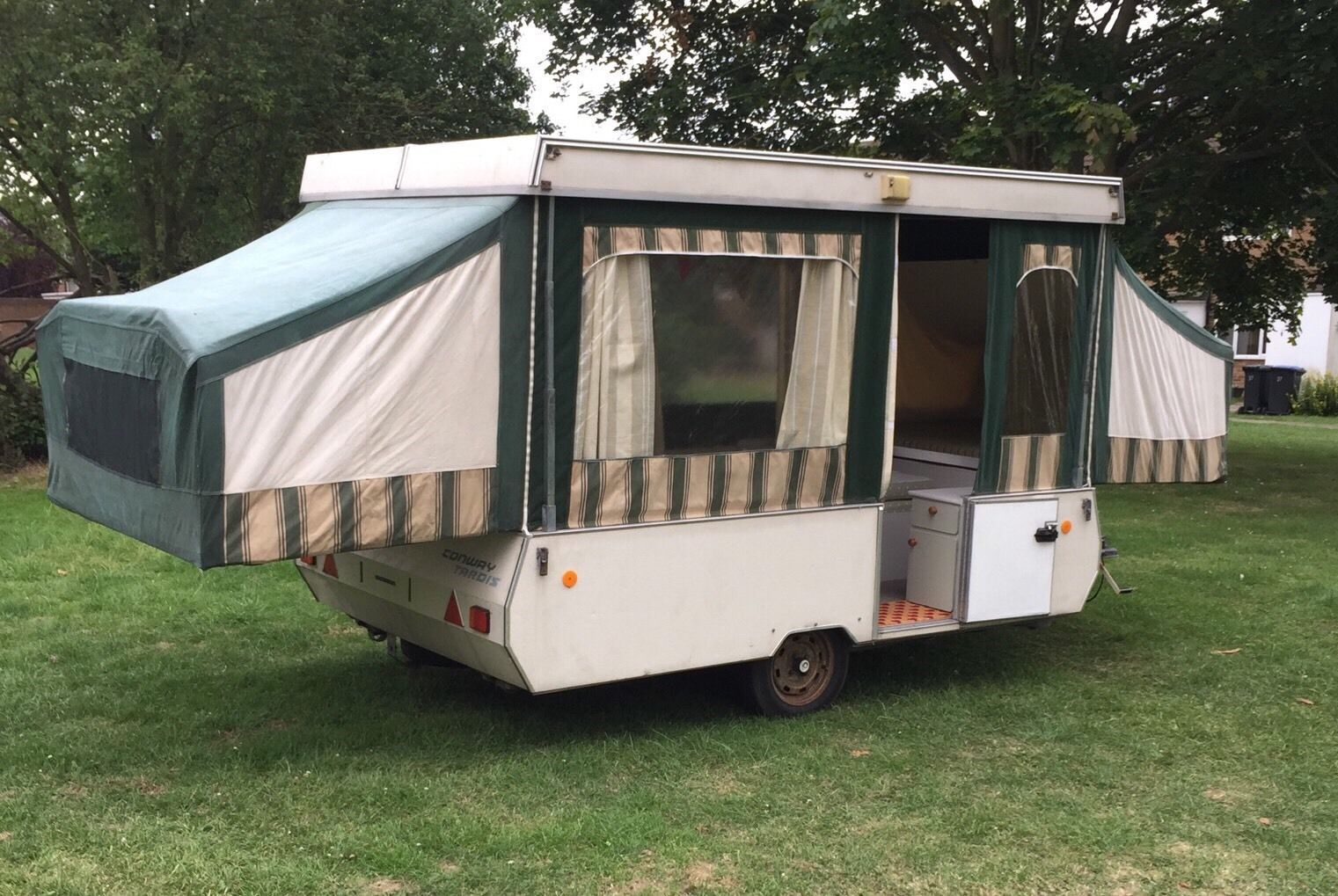 Shabby Chic Conway Tardis Folding C&er Trailer Tent Refurbished Gl&ing inu2026 & Shabby Chic Conway Tardis Folding Camper Trailer Tent Refurbished ...