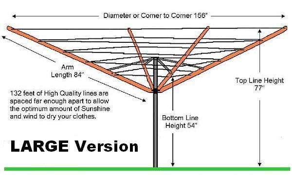 Umbrella Clotheslines | Rotary Outdoor Clothesline | Made in USA #largeumbrella