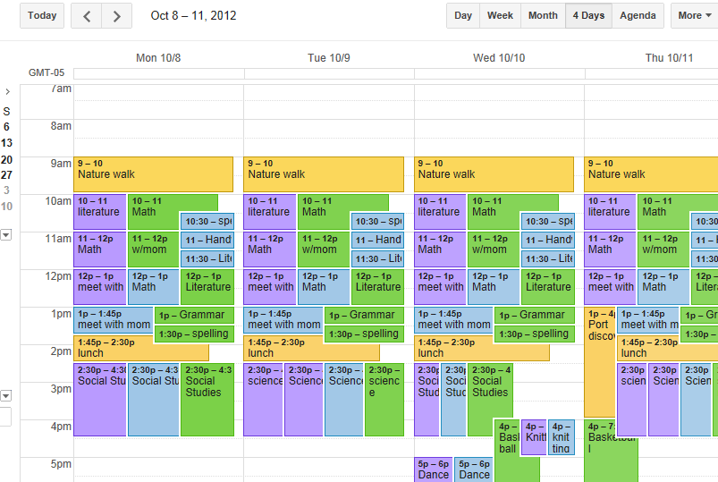 How I use google calendar for homeschool    this is one of