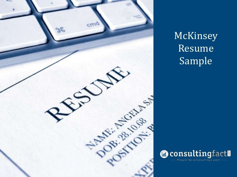 Mckinsey Resume Sample Resume Sample Resume Resume Examples