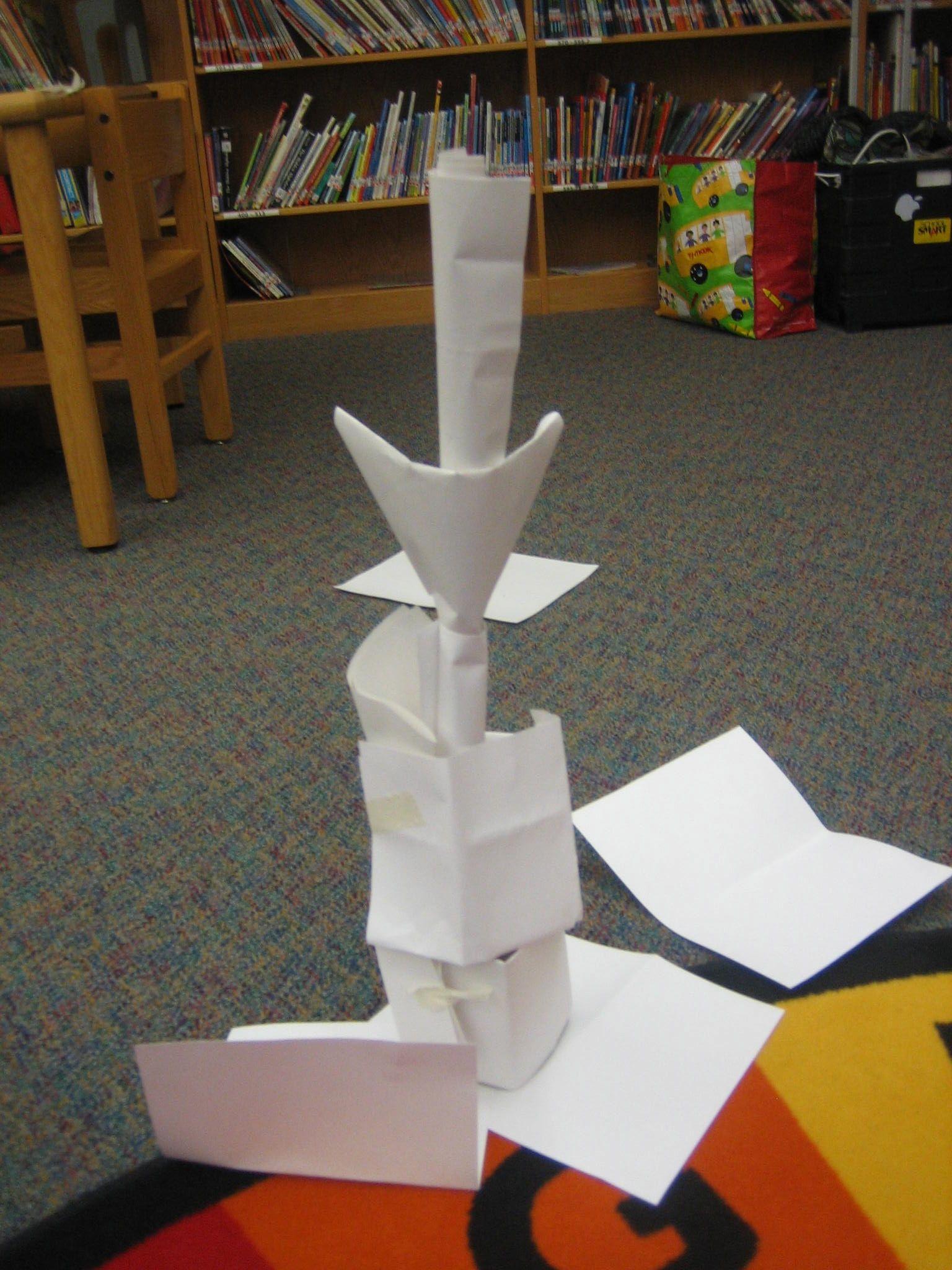 Paper Tower: Engineering Challenge | STEM activities | Pinterest ...