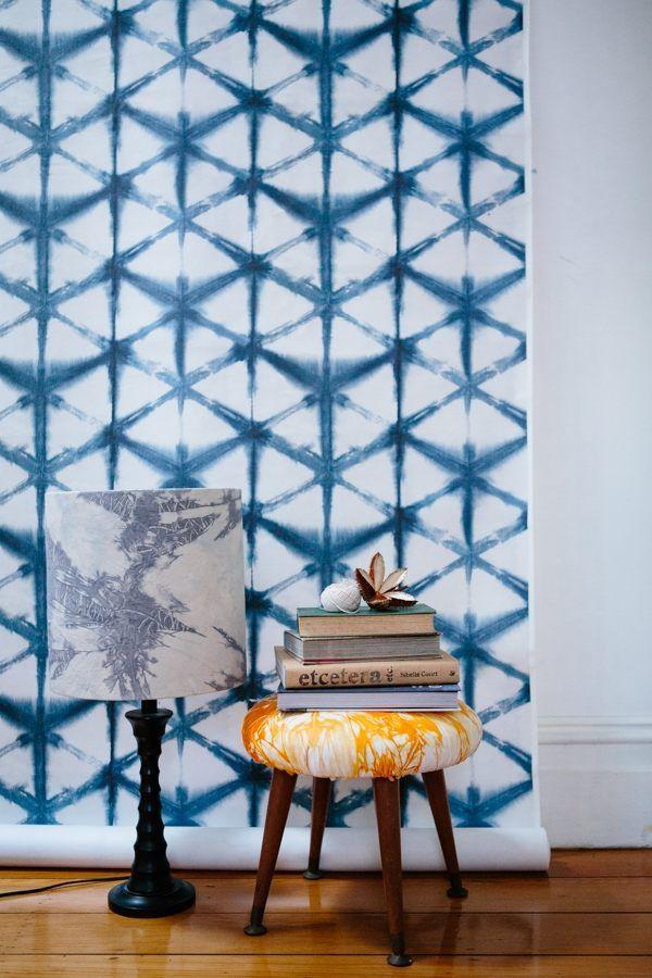 Moderne Textilkunst-shibori Wanddesign-Tapeten Muster | Innenräume ...