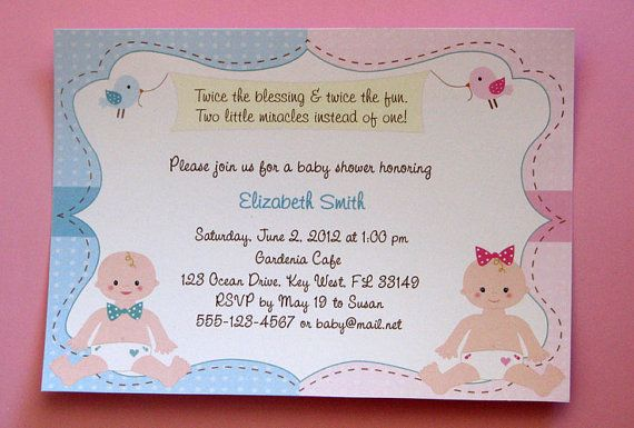 New twin boy and girl baby shower invitations by lindsayisartsy new twin boy and girl baby shower invitations by lindsayisartsy 1620 filmwisefo