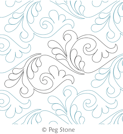 Digital Quilting Design Feather Flourish by Peg Stone. | Kool ... : feather quilting designs - Adamdwight.com