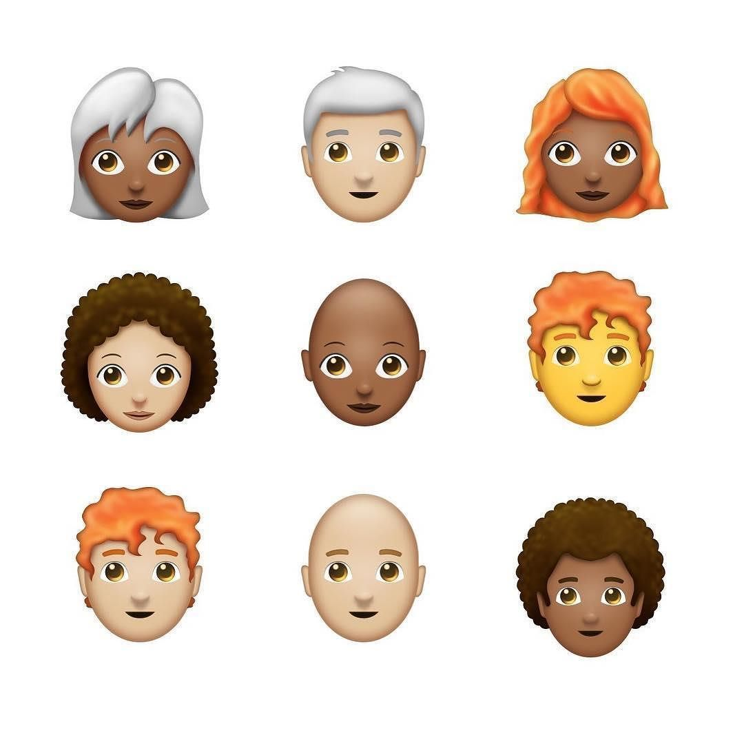 iOS 11 could add redhead afro and bald emojis according to a