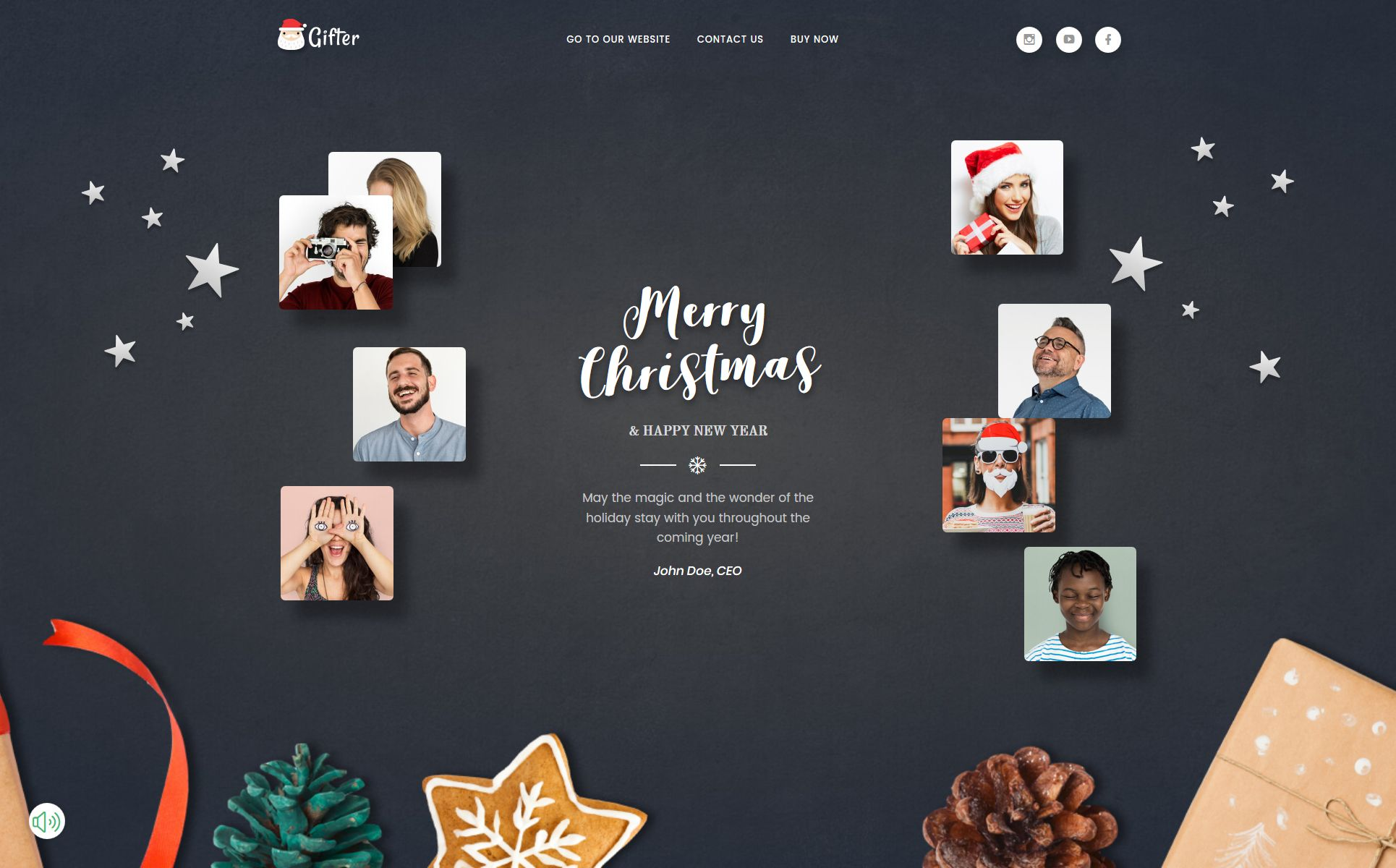 Greeting Card Html Template Holiday Templates Templates Greeting Cards