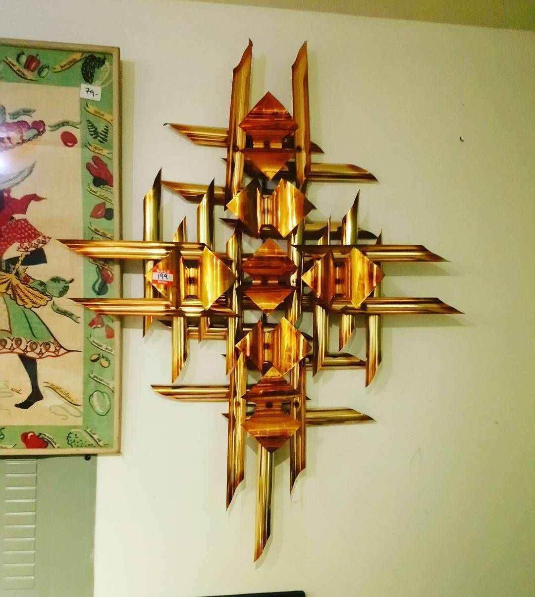 Laege metal wall art refind midcentury midcenturymodern madmen