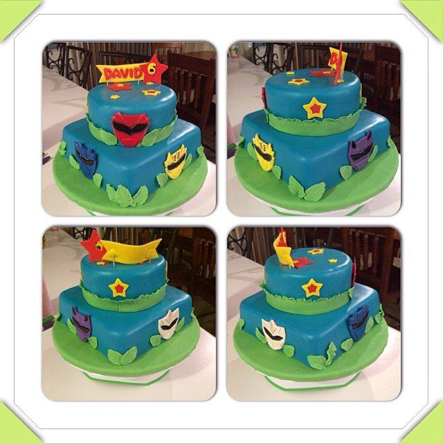 Power Rangers Jungle Fury Fondant Cake Cake Creations Cake Birthday Cake