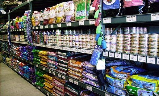 Wide Span Heavy Duty Shelving For Bulk Dog Food Dierenwinkel