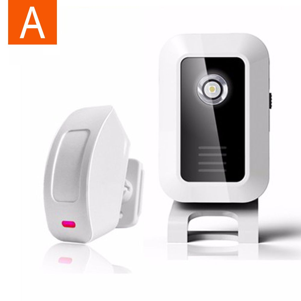 Welcome Chime Wireless Device Pir Motion Sensor Bell Alarm Entry