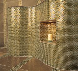 glass tile wall love this for an entire bathroom or for kitchen