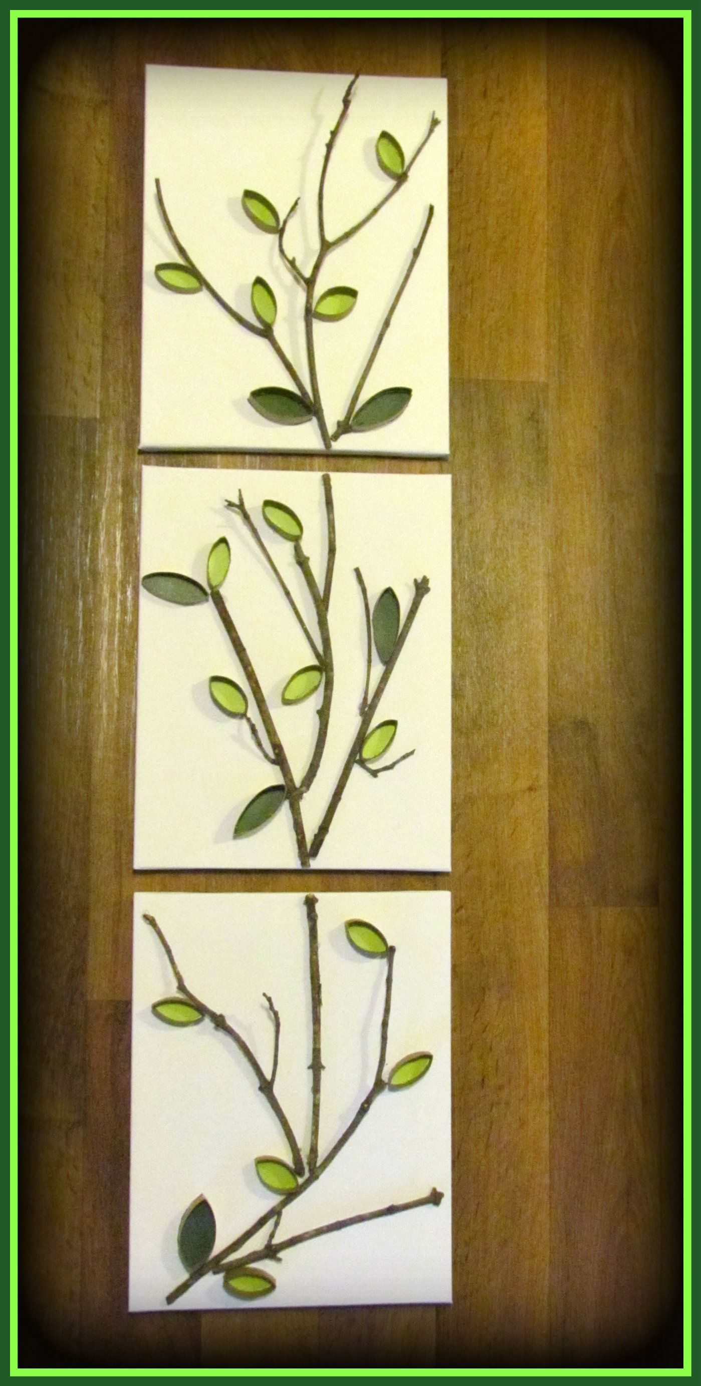 3-11 x 14 canvas\', tree branches, toilet paper rolls, parchment ...