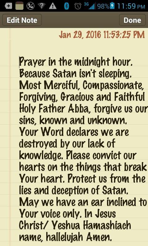 Prayer in the Midnight Hour  | Quotes & stuff | Midnight prayer, In