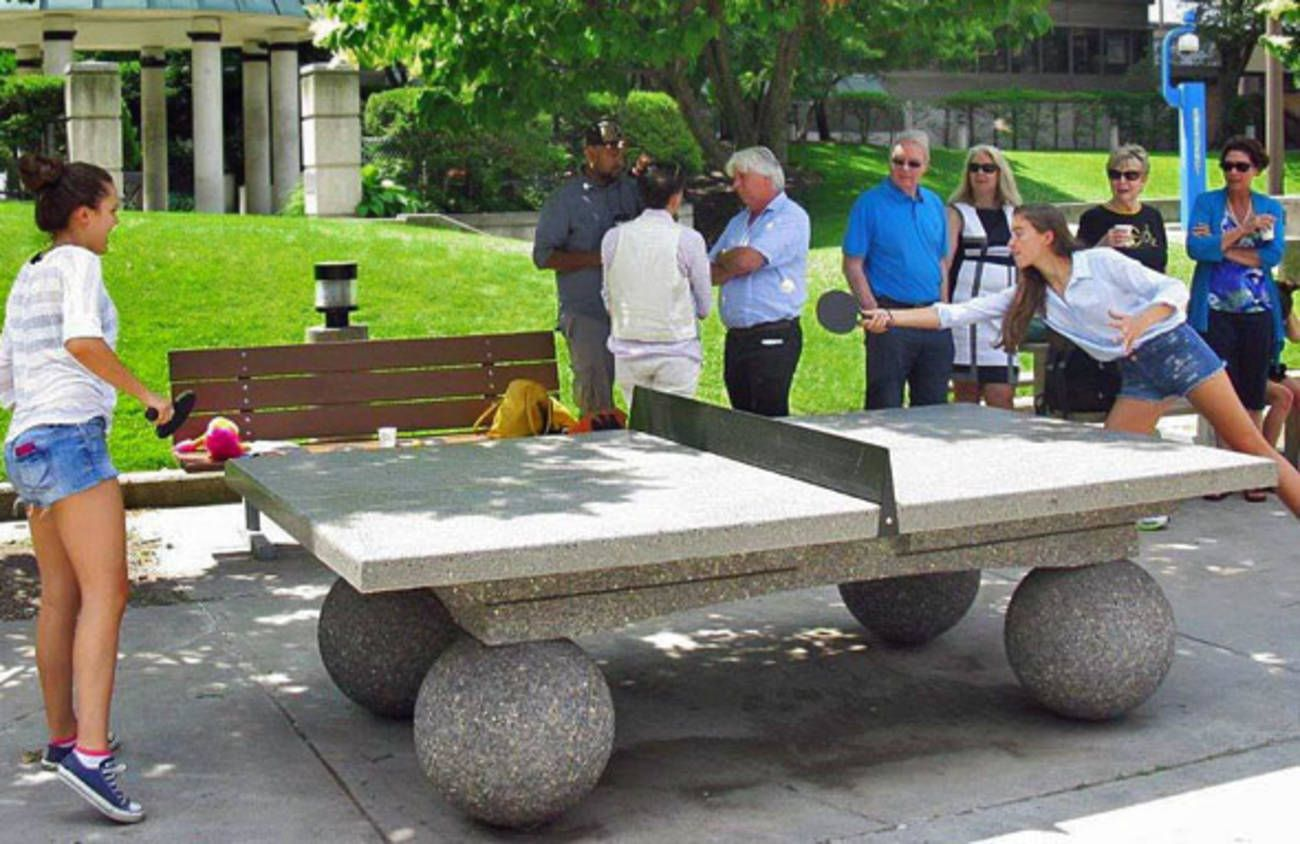 Concrete ping pong tables are rapidly invading torontos