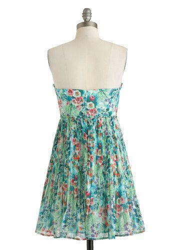 bfa85434b6d20e Oceanic Dreaming Dress, #ModCloth Velvet Skirt, Unique Dresses, Modcloth,  Pleated Skirt