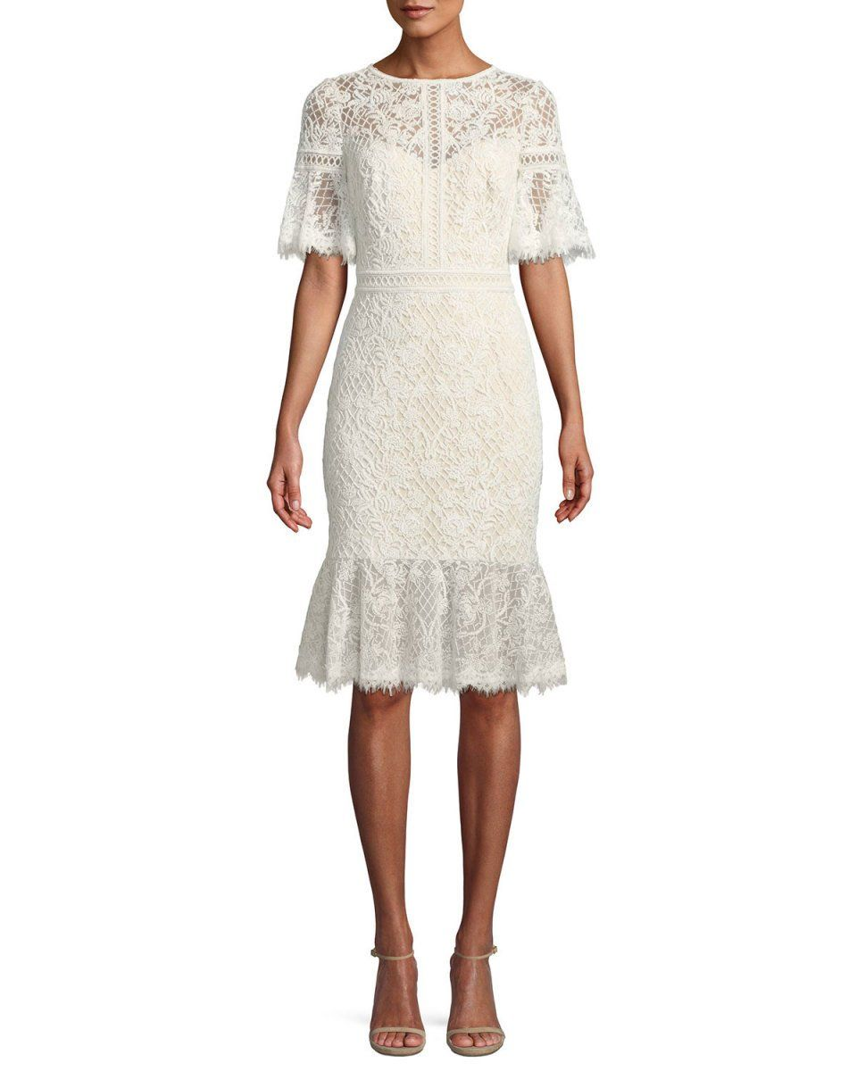 Pin By Moira Manning On Moira Mimi Lulu Manning Fritts Tadashi Shoji Dress Lace Ruffle Hem Dress Dresses [ 1200 x 960 Pixel ]