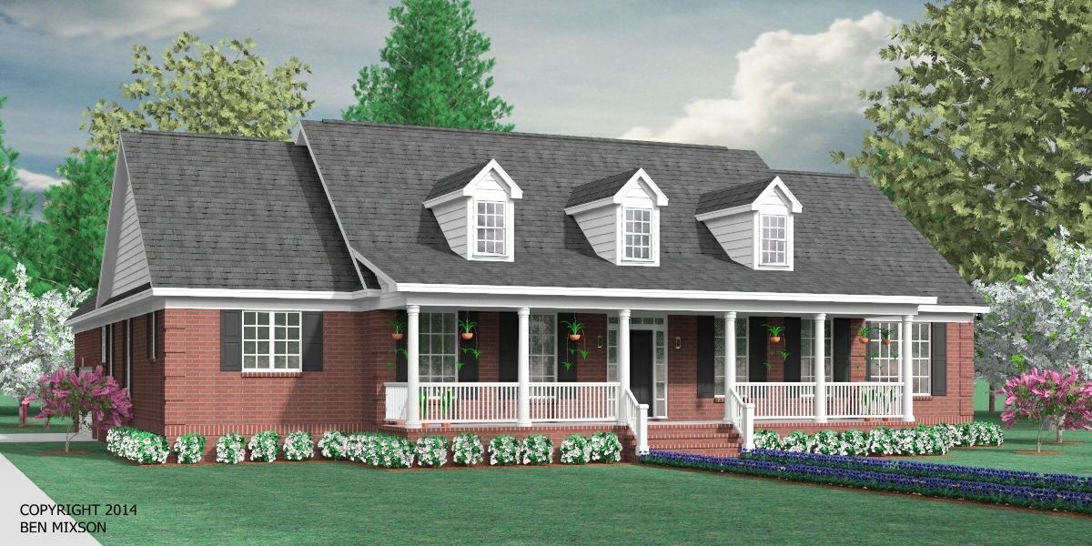House plan 2224 2 b the birchwood b elevation beautiful for One story house plans with bonus room