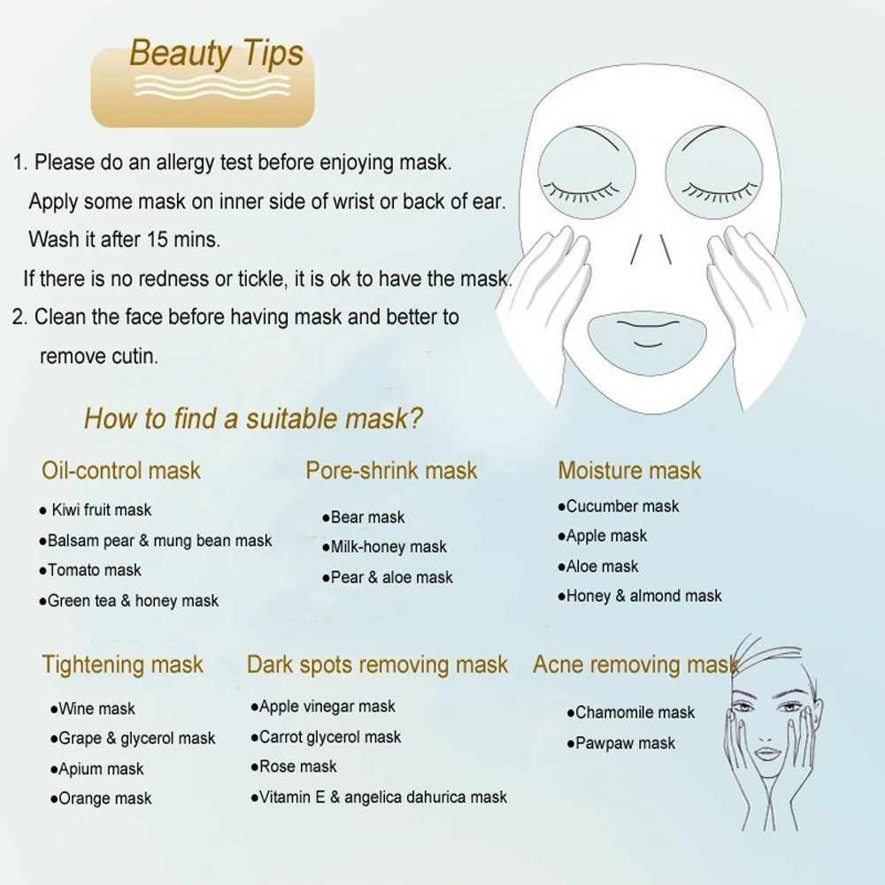 Compressed facial masks with storage box diy face mask