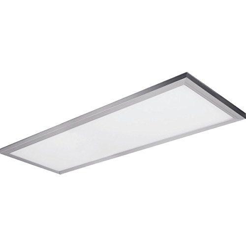 Feit Led 4 Flat Panel Rectangle Ceiling Linear Fixture Indoor Lighting 50 Watt 120 Volt Brushed Nickel White Diffused Le Indoor Lighting Fixtures Dimmable Led