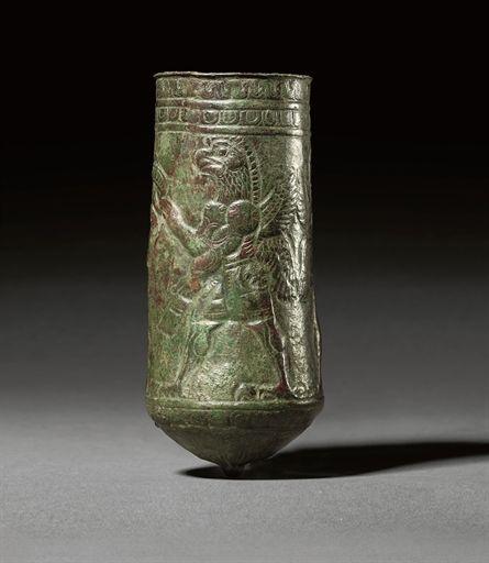 A LURISTAN BRONZE SITULA CIRCA 11TH-10TH CENTURY B.C.