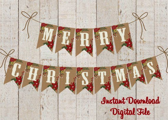 picture about Merry Christmas Banner Printable called Xmas Banner Printable , Merry Xmas Banner