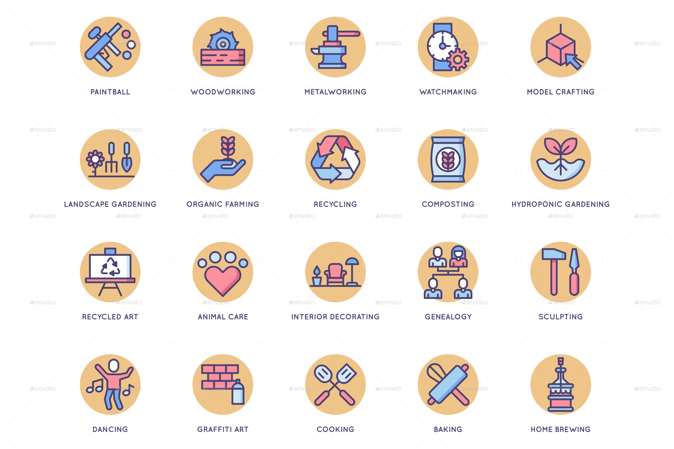 Hobby Icons Butterscotch Series Hosting Icon Marketing Icon Custom Icons