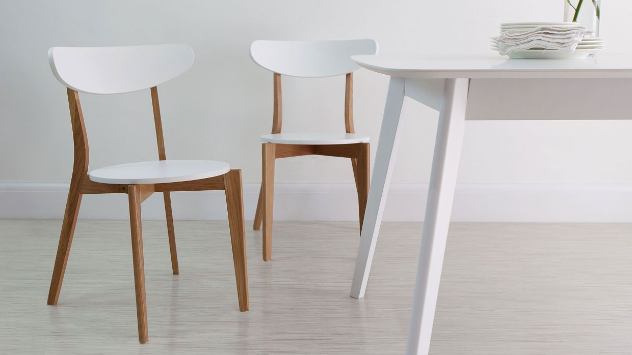 senn oak and white dining chair dining chairs modern dining