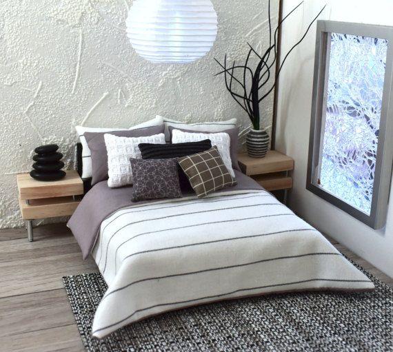 Modern Miniatures 112 Dollshouse Bed Linen Scandinavian 9 Piece