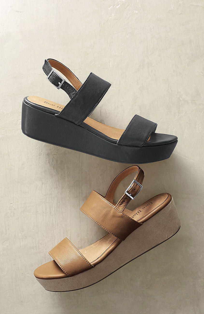 f6646f959141 Flat platform sandals