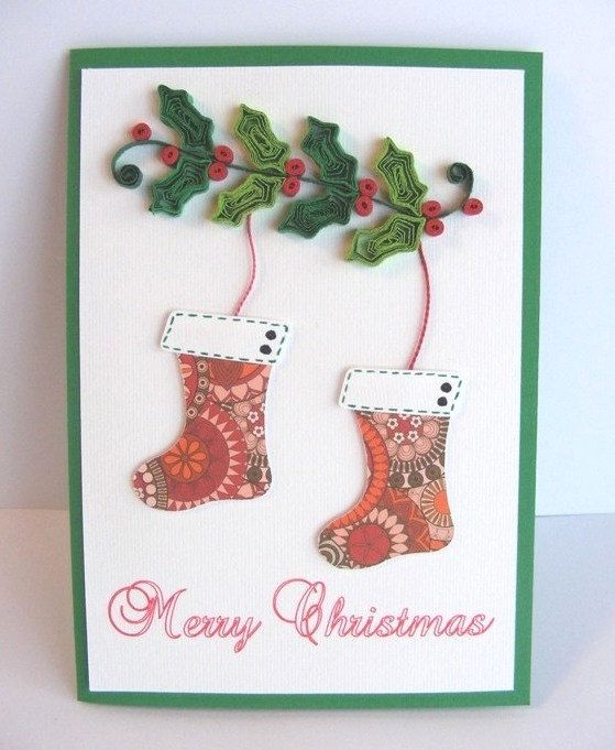 Greeting Christmas Card/ Quilling Christmas Card by RollingIdeas, $4.00