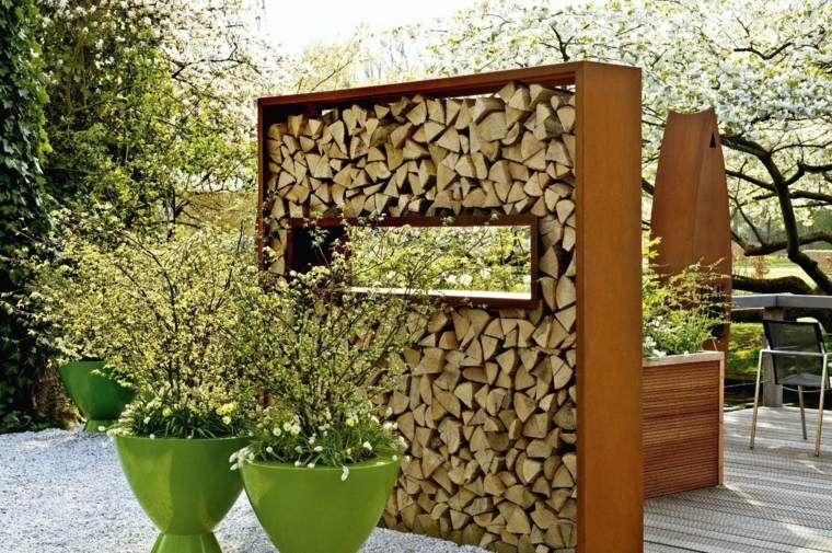 Cl tures de jardin en 59 id es captivantes cl tures de jardin en bois et bois - Brise vue jardin bois creteil ...