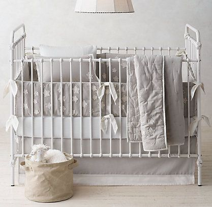 Little Star Appliqué Nursery Bedding Collection | RH baby&child