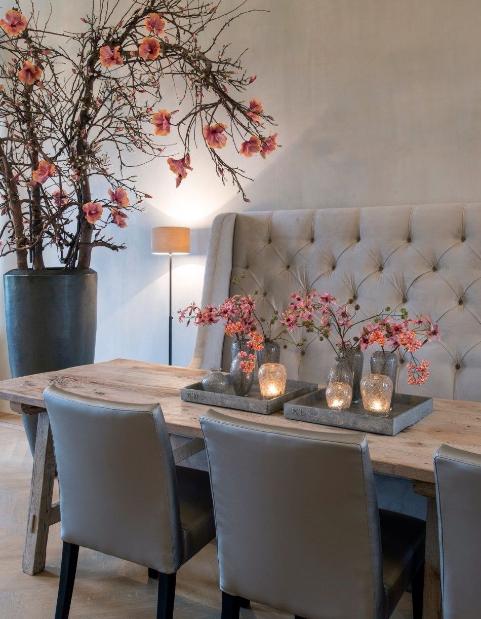 Trendy Duo: Dining Room & Contemporary Sofas