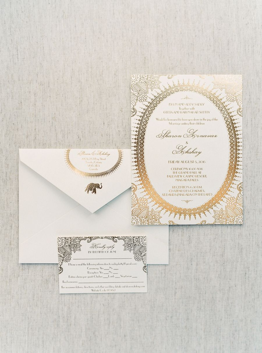 Modern Chic Multicultural Indian Wedding Indian Wedding Invitations Modern Wedding Invitations Wedding Invitations Modern Chic
