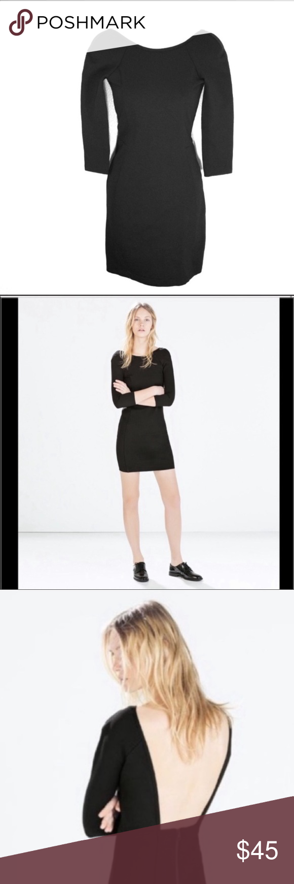 Zara Black Open Back Stretch Knit Dress Zara Black Open Back Dress Zipper In Back Thick Stretch Material Similar To Stretch Knit Dress Zara Black Knit Dress [ 1740 x 580 Pixel ]