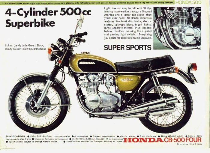The classic of classics  Vintage Honda CB500 Four  candy