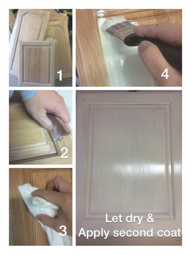 Painting Kitchen Cupboards 1 Use Orbital Sander 150 Grit Paper To Remove Varnish Debris 2 Hand Sand D Kitchen Cupboards Paint Keep It Cleaner How To Apply