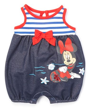 ceef5e985 Another great find on #zulily! Blue & White Stripe Minnie Mouse ...