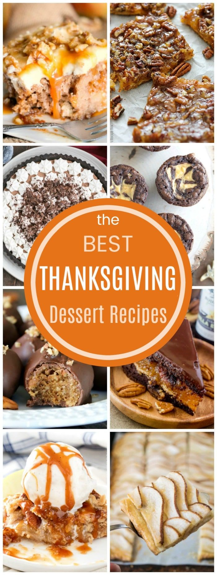 The Best Thanksgiving Dessert Recipes - not just apple pie and pumpkin pie, you'll find cakes, cookies, brownies, and more amazing desserts for your holiday menu! #thanksgiving #thanksgivingdessert via @cupcakekalechip