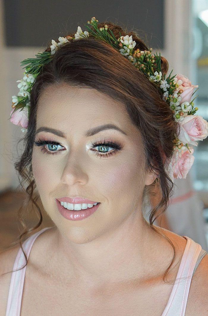 Soft Glowy Wedding Makeup in 2020 Wedding hair and
