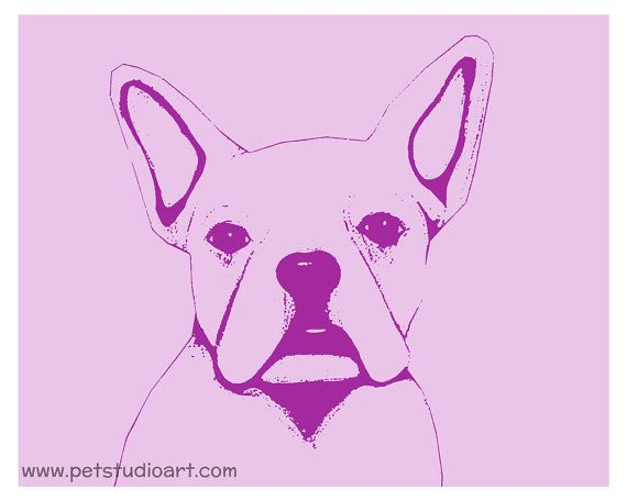 French Bulldog Graphic - 8in x 10in Print on Etsy, $20.00