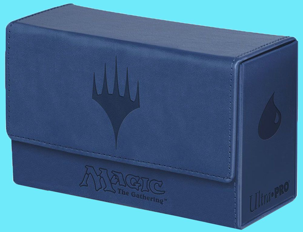 ULTRA PRO MTG MATTE BLUE MANA Leatherette DUAL FLIP DECK BOX