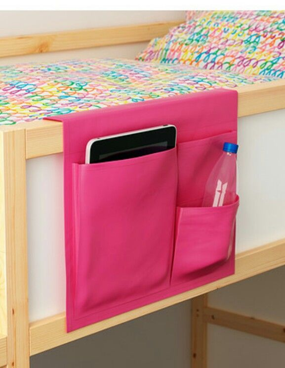 Storage idea. Good for a cabin/highsleeper bed (ikea ...